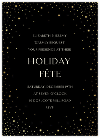 Modest Dazzle - Black - Paperless Post - Holiday party invitations