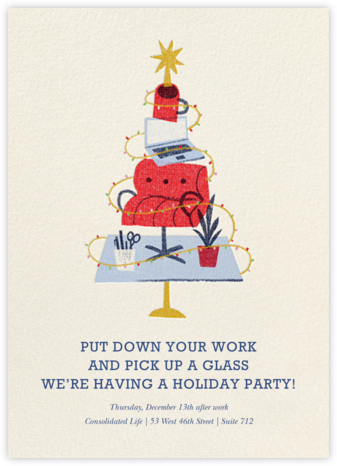 Office Tree - Paperless Post - Holiday party invitations