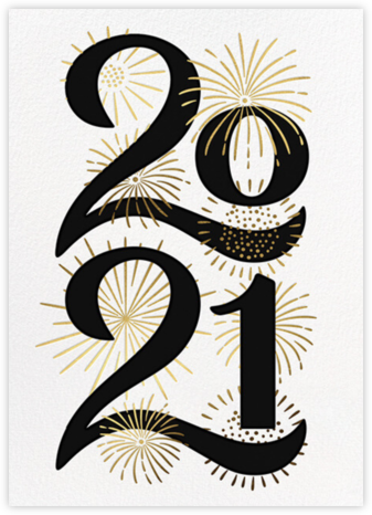 A Sparkling New Year - Paperless Post - New Year Cards