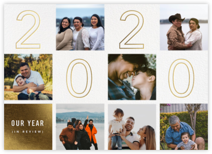 Retrospective - Gold - Paperless Post - Holiday Cards