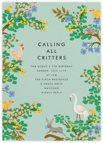 Forest Animals - Rifle Paper Co. - Kids' birthday invitations