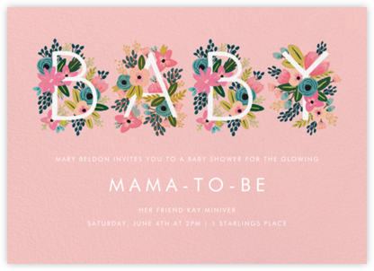 Floral Baby - Rifle Paper Co. - Online Party Invitations