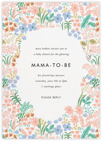 Pastel Meadow - Rifle Paper Co. - Baby Shower Invitations