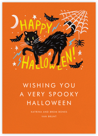 Black Cat Halloween - Rifle Paper Co. - Halloween cards