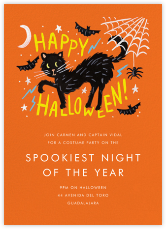 Black Cat Halloween - Rifle Paper Co. - Halloween invitations