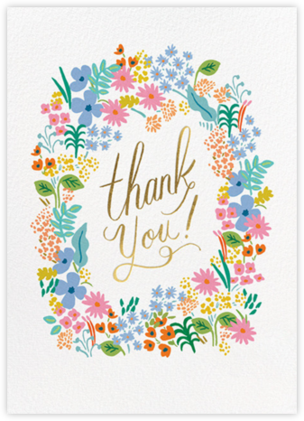 Meadow Thank You - Rifle Paper Co. - Online Thank You Cards