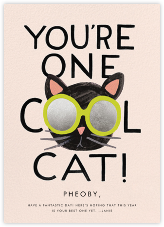 Cool Cat - Rifle Paper Co. - Birthday Cards