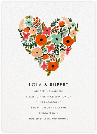 Floral Heart - Rifle Paper Co. - Engagement party invitations