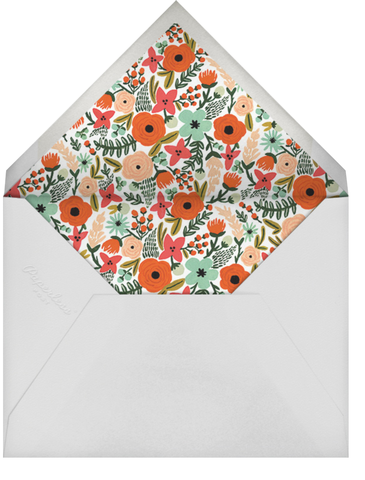Floral Heart - Rifle Paper Co. - 1st birthday - envelope back