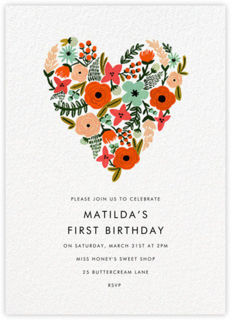 Floral Heart - Rifle Paper Co. - Rifle Paper Co. Invitations