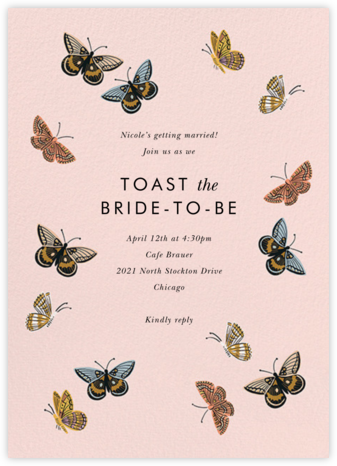 Monarch Birthday - Rifle Paper Co. - Bridal shower invitations