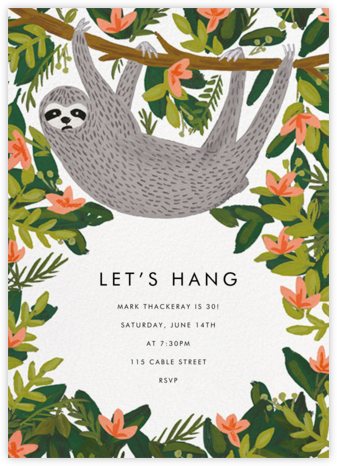 Let's Hang - White - Rifle Paper Co. - Adult Birthday Invitations