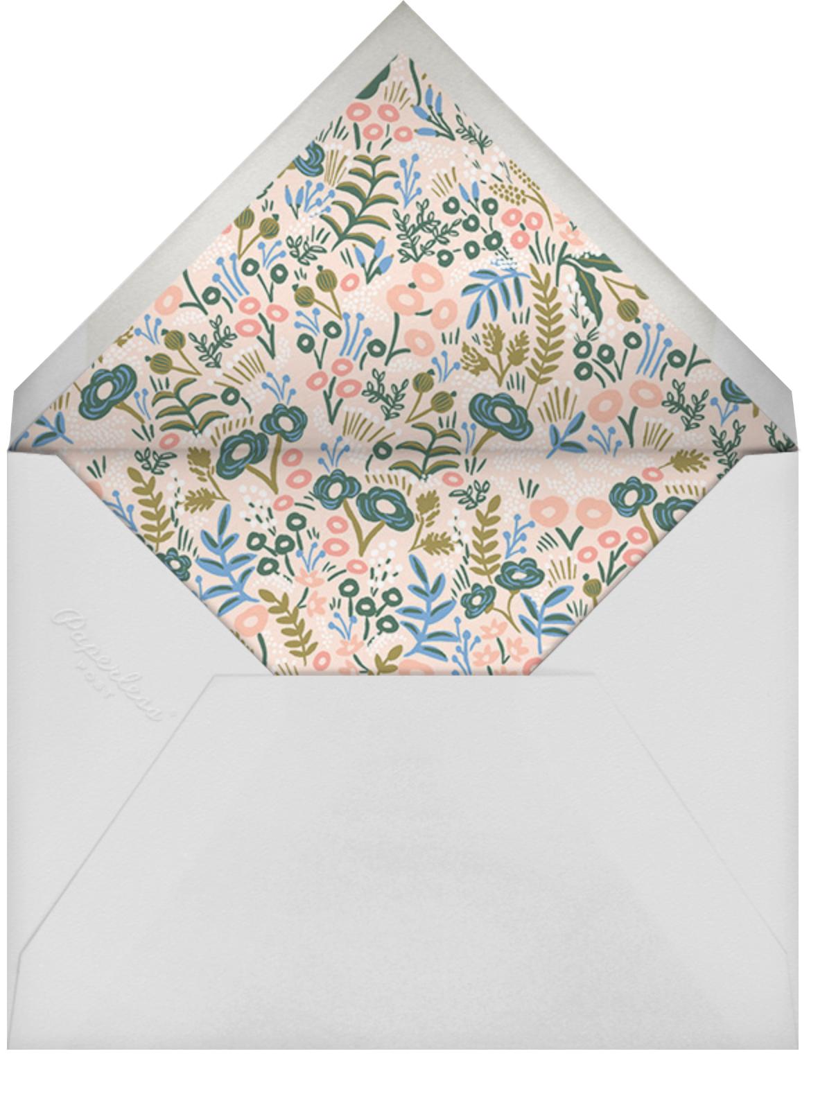 Floral Tapestry - Lapis - Rifle Paper Co. - Autumn entertaining - envelope back
