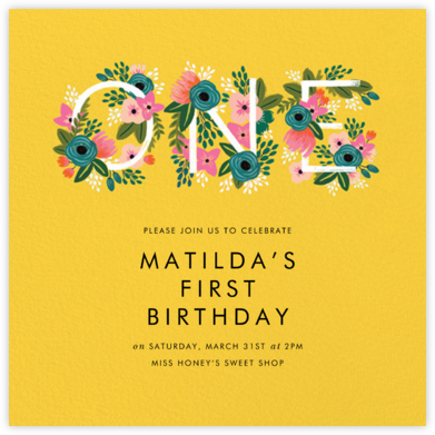 One Blooming Birthday - Citrus - Rifle Paper Co. - Rifle Paper Co. Invitations
