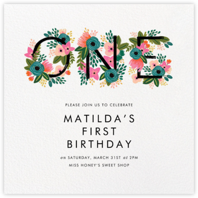 One Blooming Birthday - White - Rifle Paper Co. - Rifle Paper Co. Invitations