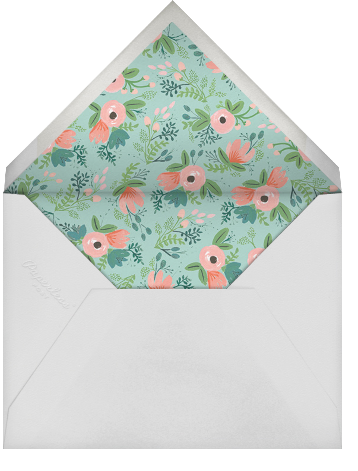 One Blooming Birthday - White - Rifle Paper Co. - 1st birthday - envelope back