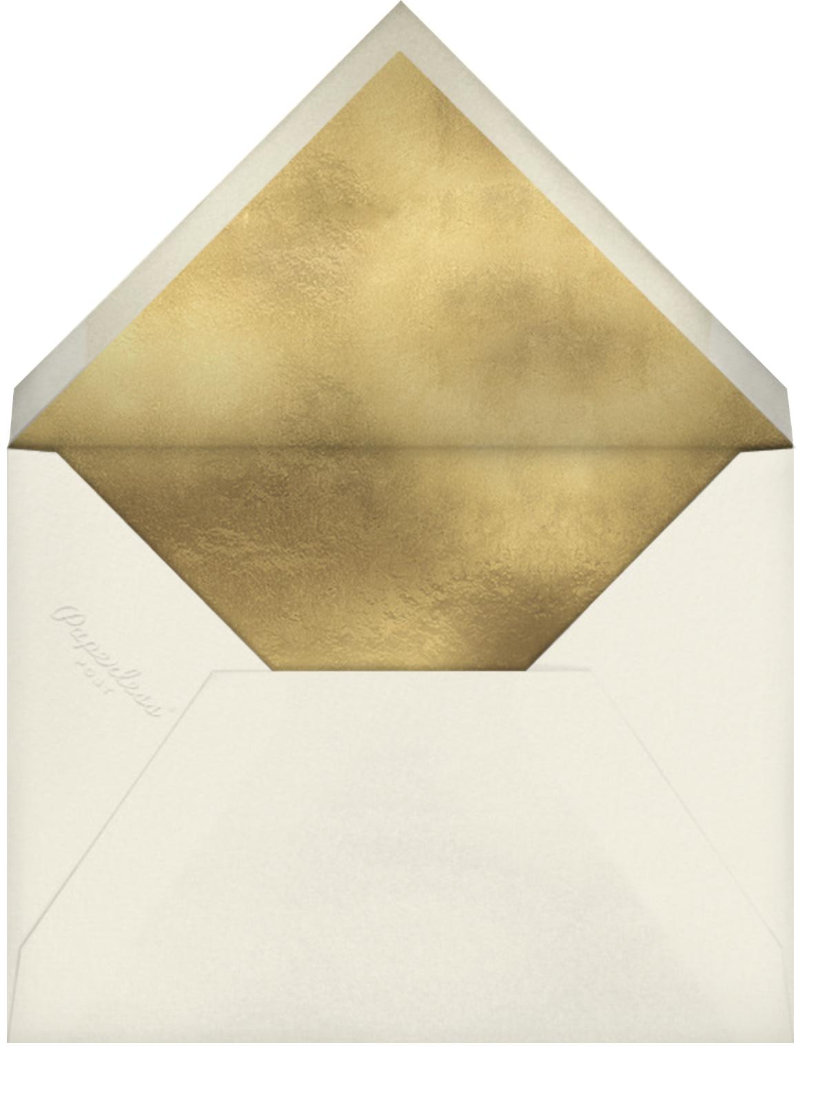 Gold Unikko - Crimson - Marimekko - Lunar New Year - envelope back