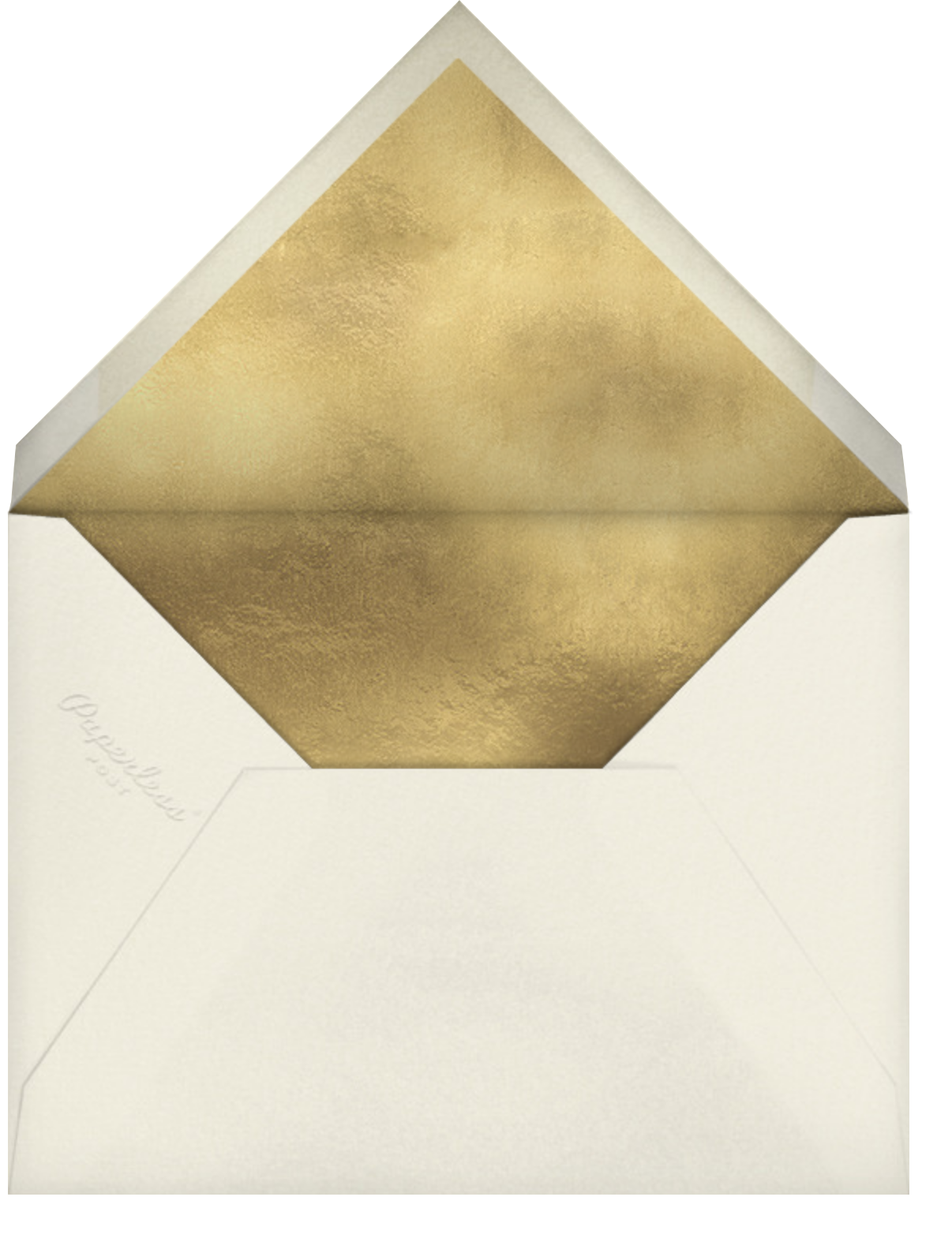 Gold Unikko - Hunter - Marimekko - Winter entertaining - envelope back