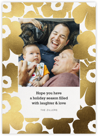 Gold Unikko Photo - Marimekko - Holiday Cards