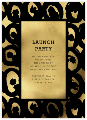 Kissapöllö - Black - Marimekko - Launch Party Invitations