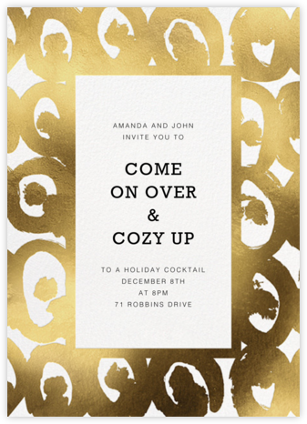 Kissapöllö - White - Marimekko - Holiday party invitations