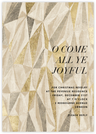Covet - Metallic - Kelly Wearstler - Holiday party invitations