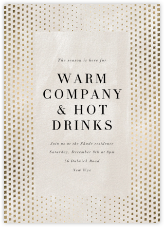 Kinetic Flow (Tall) - Kelly Wearstler - Winter Party Invitations