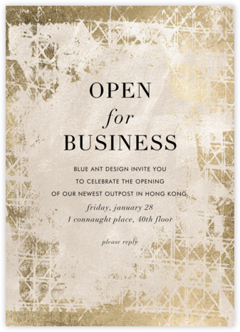 Muse - Kelly Wearstler - Business event invitations