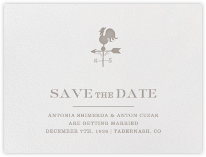 Granary (Save the Date) - Taupe - Paperless Post