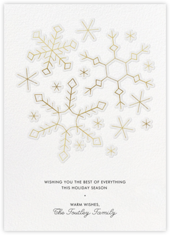 Gold Snowflakes - Paperless Post - Holiday cards