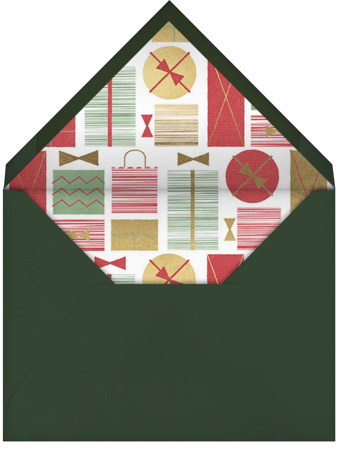 Gift Swap - Gold - Paperless Post - Gift exchange - envelope back