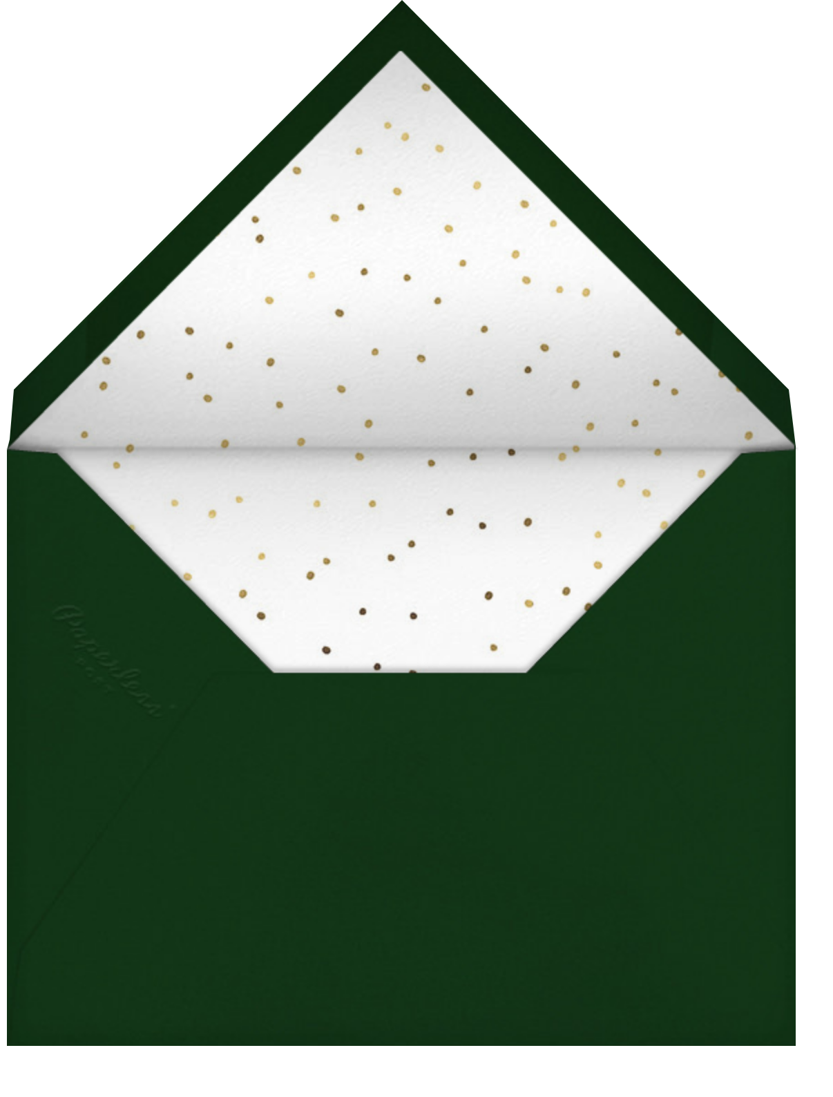 Gold Sprigs - Paperless Post - Christmas party - envelope back