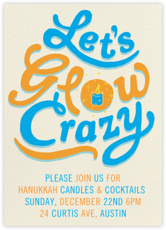 Glow Crazy - Paperless Post - Hanukkah Invitations