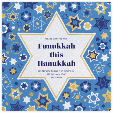 Six Points - Paperless Post - Hanukkah Invitations