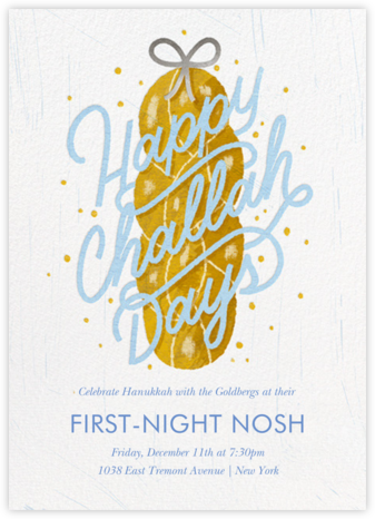 Challahdays - White - Paperless Post - Hanukkah Invitations