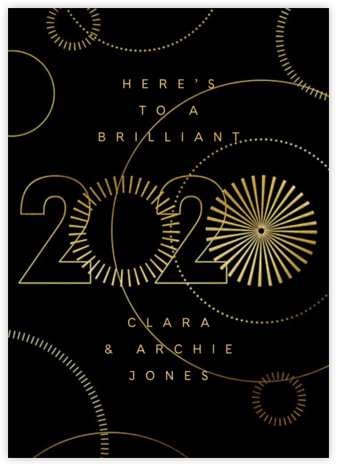 2020 Vision - Black - Paperless Post - New Year cards