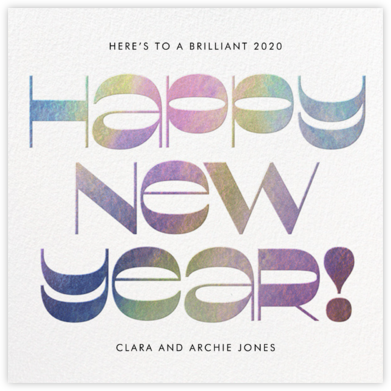 Groovy New Year's - White - Paperless Post -