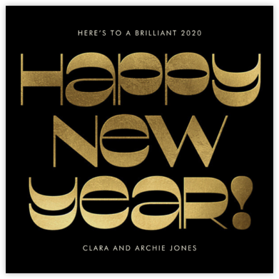 Groovy New Year's - Black - Paperless Post -