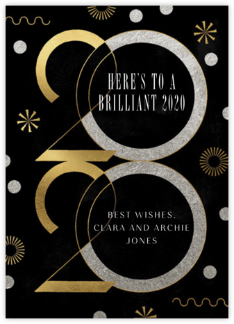 Deco New Year's - Paperless Post -