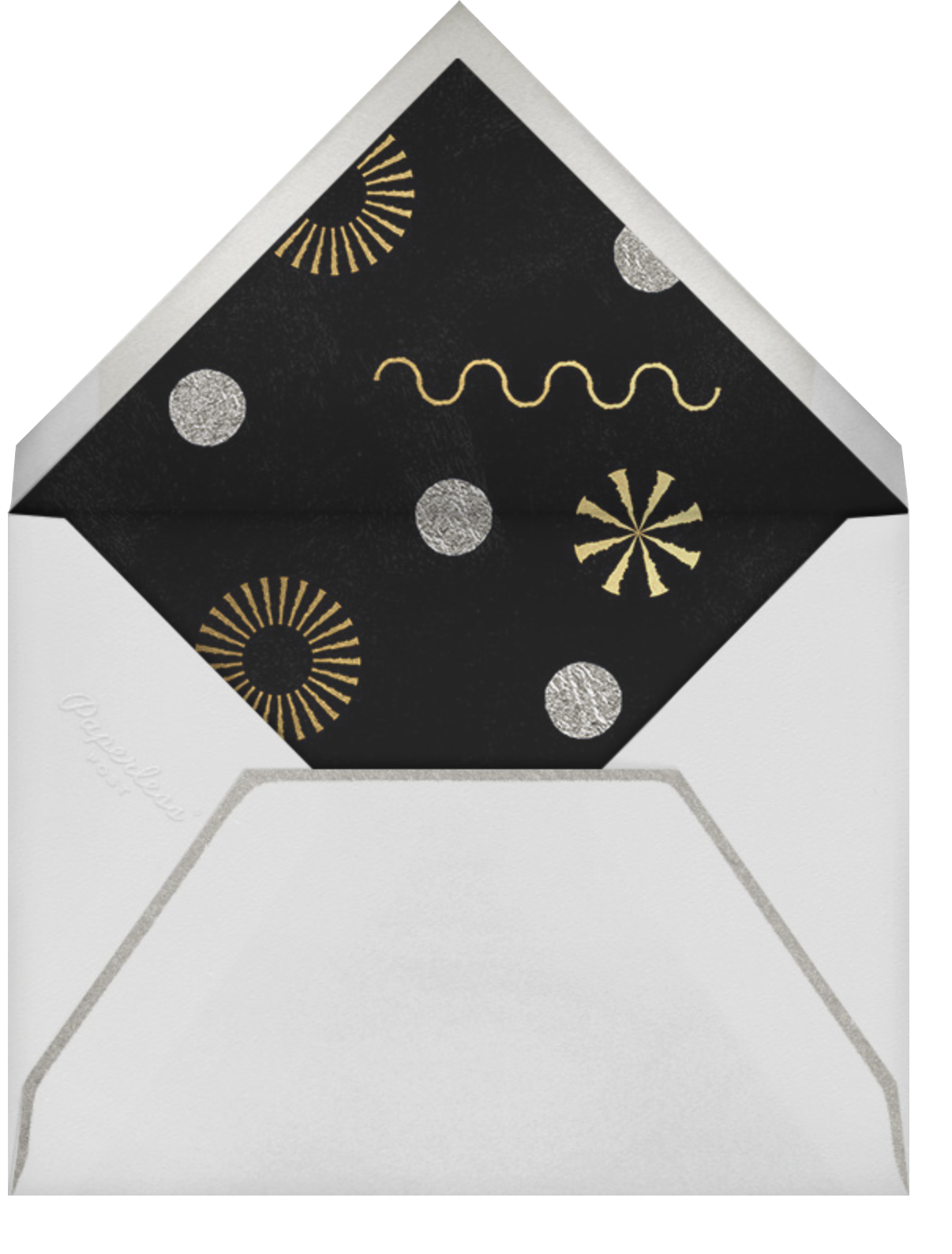 Deco New Year's Photo - Paperless Post - New Year - envelope back