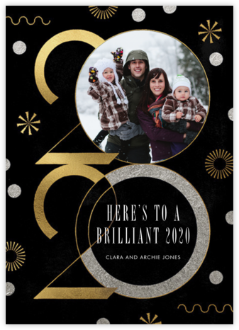 Deco New Year's Photo - Paperless Post - New Year Cards