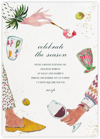 Holiday Hors d'oeuvres - Happy Menocal - Holiday party invitations