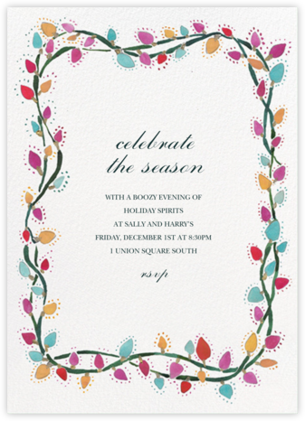 Light Bites - Happy Menocal - Holiday invitations