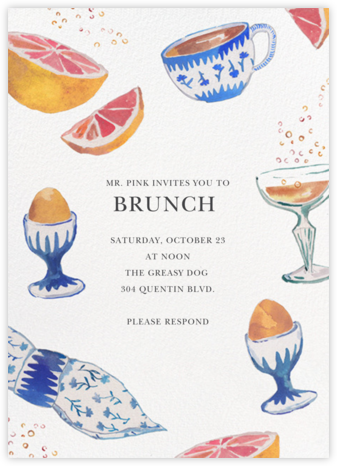 Brunch and Bubbles - Happy Menocal - Brunch invitations