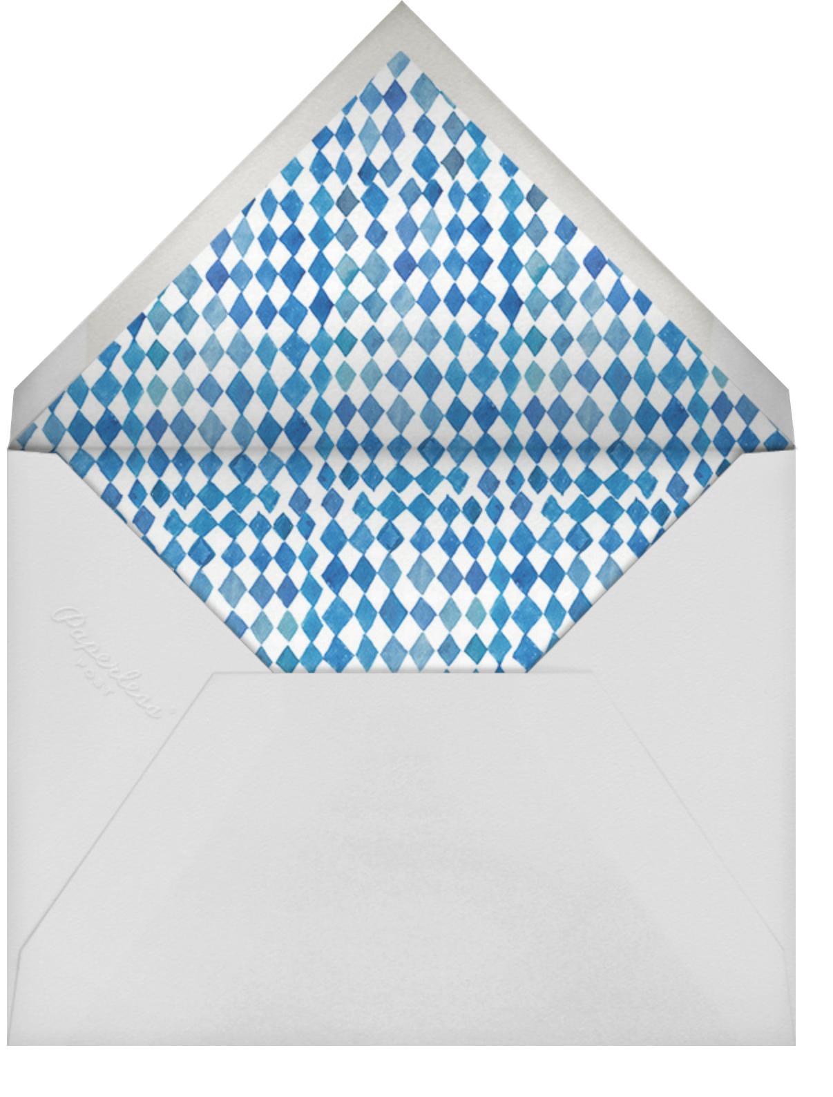 Brunch and Bubbles - Happy Menocal - Bridal shower - envelope back