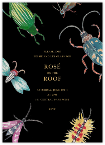 Beetle Bash - Black - Happy Menocal - Summer entertaining invitations
