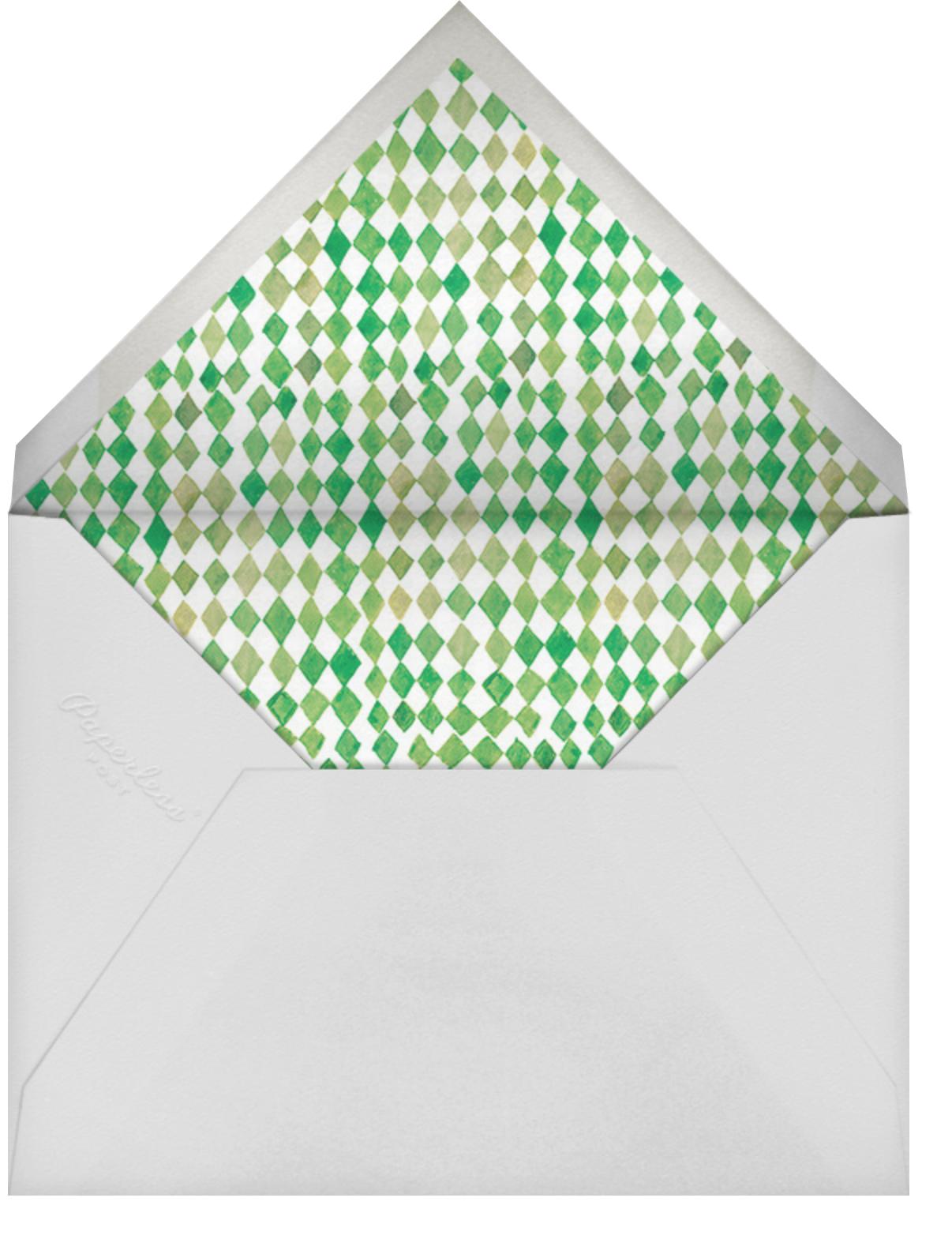 Fancy Pansies - Happy Menocal - Baby shower - envelope back