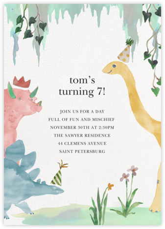 Dino Fest - Happy Menocal - Online Kids' Birthday Invitations