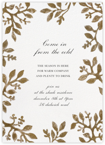 Fall Harvest - Happy Menocal - Winter entertaining invitations