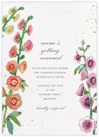Delphinium - Happy Menocal - Bridal shower invitations